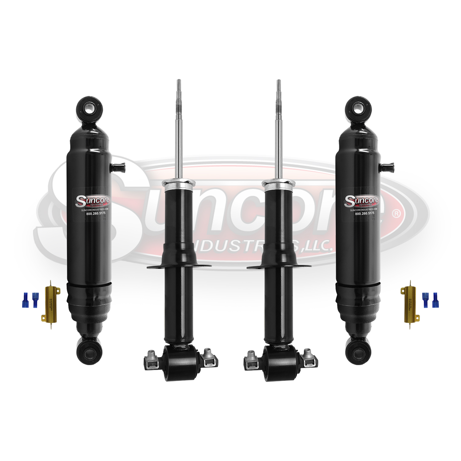 Electronic Active Suspension to Passive Gas & Air Shock Absorber Conversion Kit - GMC, Cadillac & Chevy