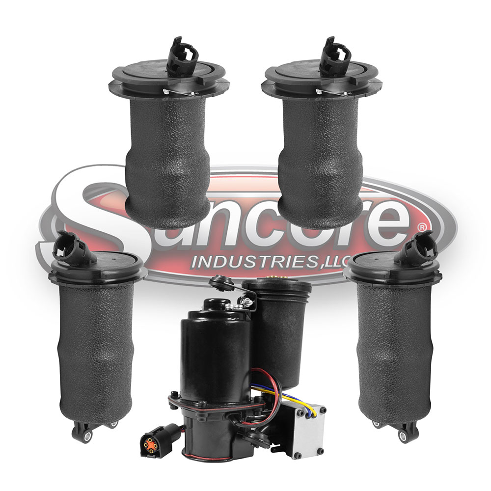Air Suspension Air Springs with Air Compressor Bundle - Continental & Mark VII