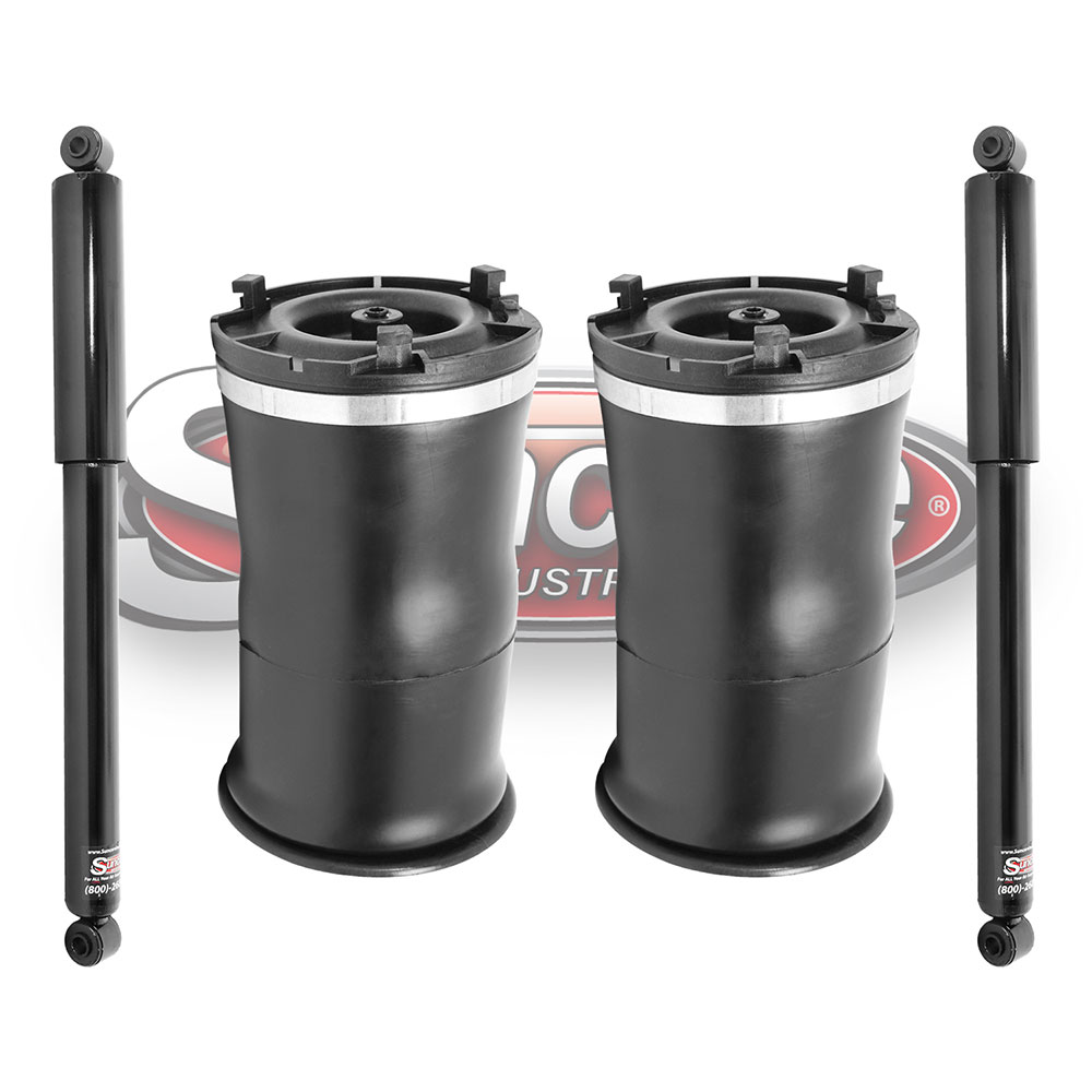 GMT913 Air Suspension Air Springs with Rear Gas Shock Absorbers Rear Pair - Hummer H2