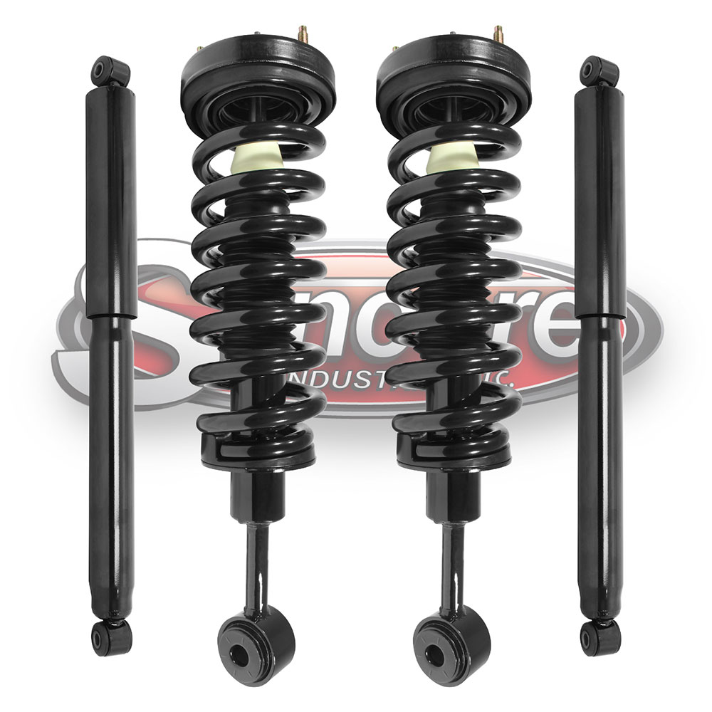 Front Complete Strut Assemblies & Rear Shock Absorber Kit - 4WD F-150 & Mark LT