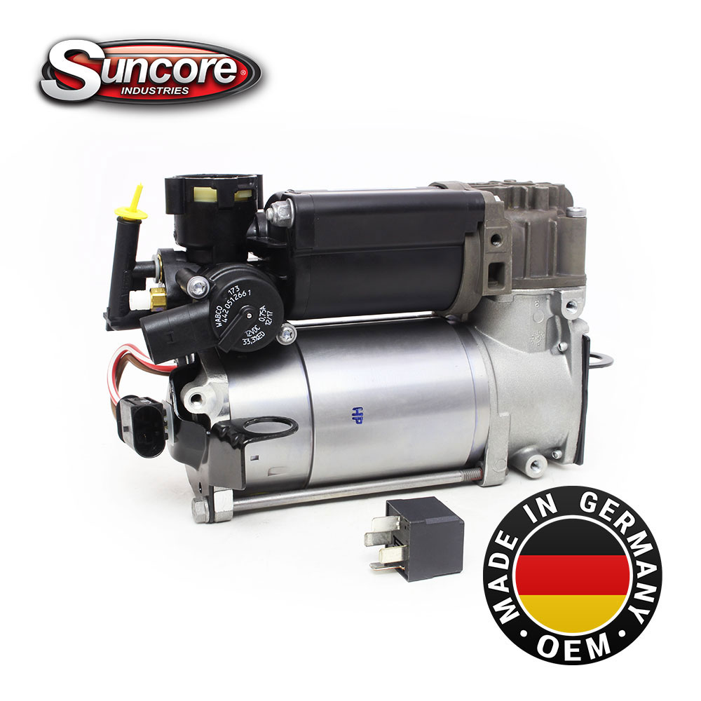 Genuine OEM Mercedes Benz Airmatic Compressor Pump With Relay E CLS S Class